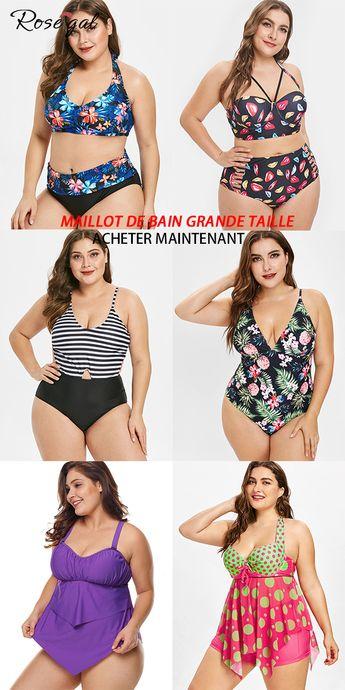 Maillot de bain tendance 2019 pour femme grande taille #Rosegal #maillot #vacances #femme #mode