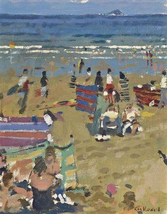 Ken Howard - Long Rock; Small Sennen Summer, oil...