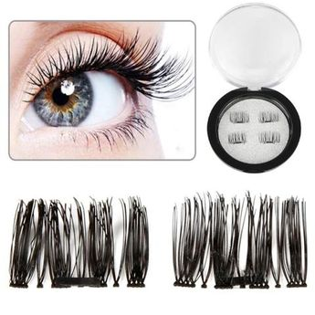 daf550c3bc1 ELECOOL 2 Pairs 3D Magnetic Eyelashes Extension Soft Hair Fake Eyelashes  False Eyelash Full Strip Cilios