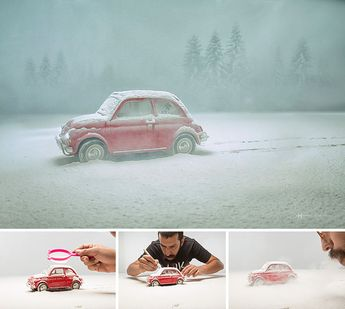 Going Behind The Scenes Of Surreal Miniature Photography