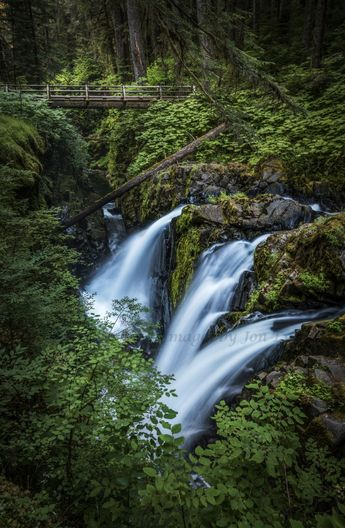Sol duc Fall is one of many waterfalls located in Olympic National Park. It is available to download at Blackdove art for your TV or electronic device.