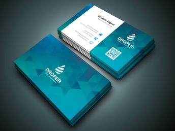 Shark Professional Corporate Business Card Template - Graphic Templates