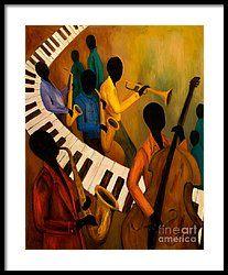 Jazz Quintet And Friends Framed Print