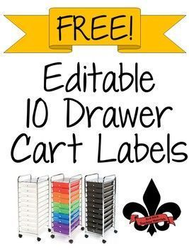 10 Drawer Editable Lables FREEBIE