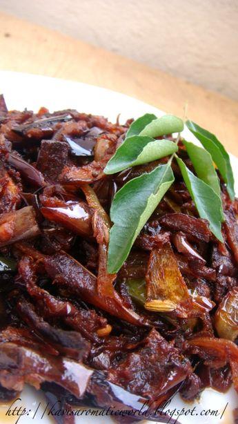Sri Lankan Fried Eggplant Curry