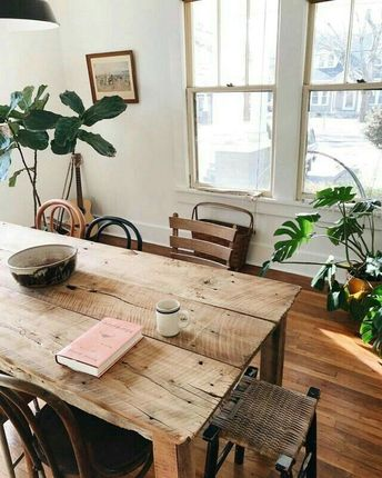 Small Bohemian Style Dining Room Design