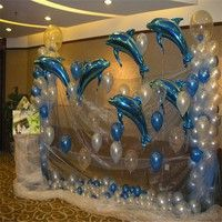 Dolphin Balloons Foil Helium Balloons Animal Balloons Birthday Party Wedding Christmas Decoration Kids Toy