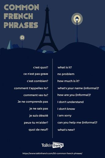 Every French learner needs to memorize these common French phrases to kickstart your lessons! It's also great for travelers who are going to France on vacation! Check out 50 of the most common French phrases here, plus download a free PDF! #frenchlanguagelearning #frenchlessons