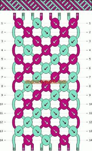 Friendship+Bracelet+Knot+Patterns | Patterns - Normal - Friendship Bracelet Pattern #4392 by marie