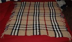 Burberry Baby Blanket pattern by Faythe Saxton