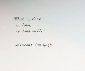 Vincent Van Gogh quote typed on a vintage typewriter by InThisRoom #artQuotes #VanGogh