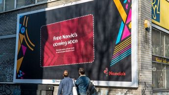 "Nando's challenges customers to find and tear down giant ""loyalty card"" billboards offering free meals"