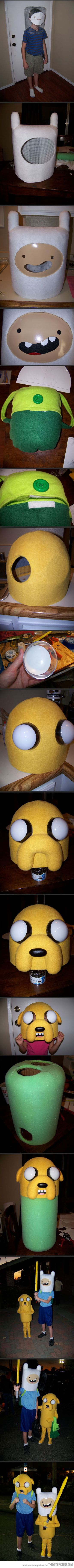 Amazing 'Adventure Time' costumes dad made for his kids…