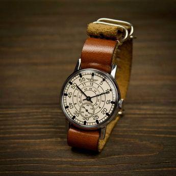 Mens vintage soviet watch Aviator. Watches for men, mens watch, Russian watch, military watch, vinta