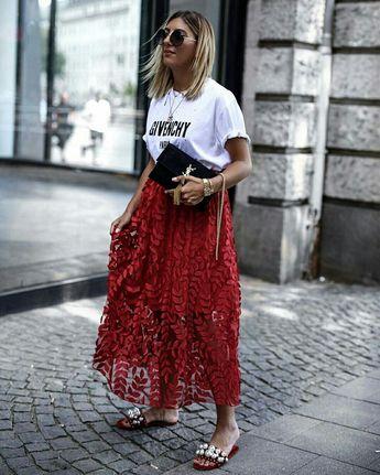 Camiseta com maxi saia  @streetrends