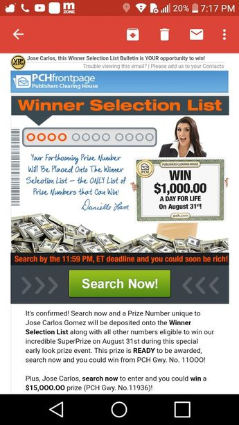 Image result for publishers clearing house search and win
