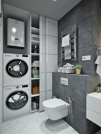 Компактный и практичный вариант для ванной комнаты. - #waschmaschine #ванной #вариант #для #и #комнаты #Компактный #практичный