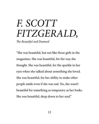 F. Scott Fitzgerald She Was Beautiful Down To Her Soul - Dorm Room, Little Girl Room, Office, Fine Art Print - DIGITAL COPY