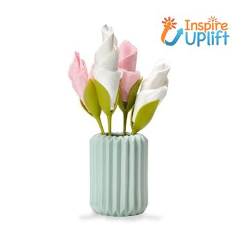 Flower Napkin Holders #inspireuplift   Shape your napkins and impress your guest in the next gathering. Our Stem-like Napkin Holder turns ordinary napkins into blossoming flowers. Fold a rose, tulip or amaryllis in seconds and impress your guest. Mix & match different colored napkins to create your own special flower for your beloved ones. Perfect for romantic dinner, family and friends gathering and any other occasions. Features: Simply twist to fold your napkins into blossoming flowers Create