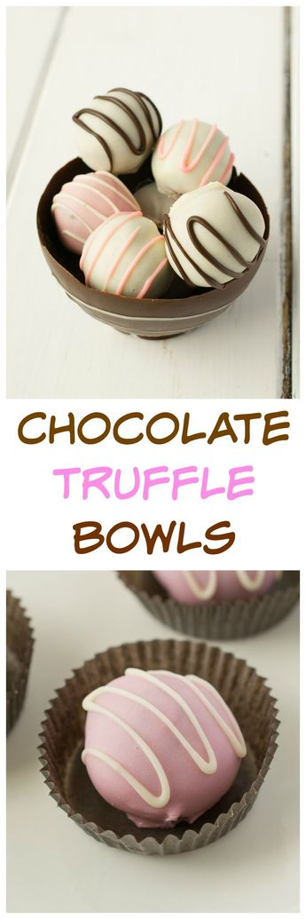 Chocolate truffle bowls are delicious homemade gifts. #chocolate #truffles #holiday