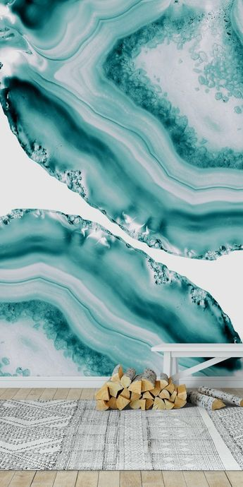 Soft Turquoise Agate 1 Wall mural