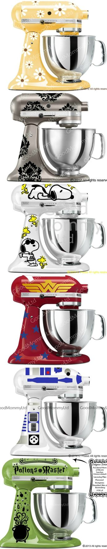 Kitchen Aid Mixer decals - Customize and decorate your kitchen aid mixer with these super cute vinyl decals!