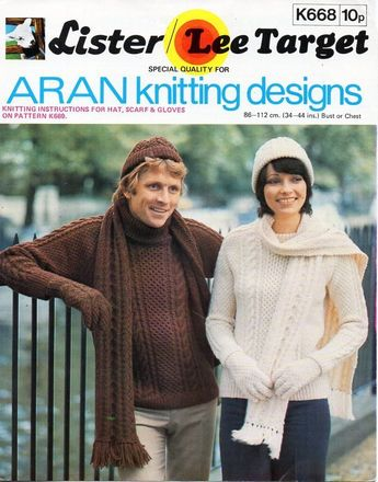 0790364390282 vintage womens mens aran sweater knitting pattern pdf ladies mans cable  jumper 34-44