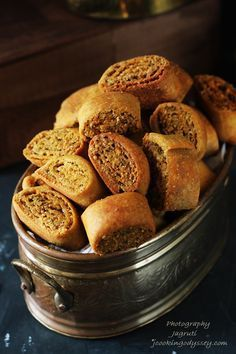 Baked Dry Bhakarwadi - #snack #delicious #baked #healthy #vegan