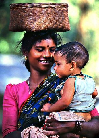 Mother & Child from Orissa Tribe  - India