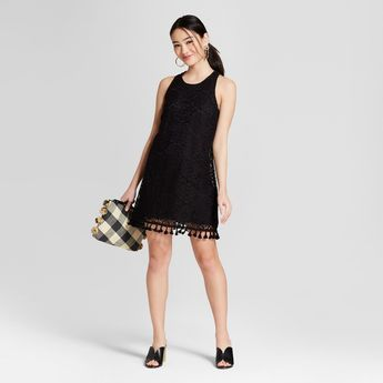 Women s Lace Fringe Hem Shift Dress - Lots of Love by Speechless (Juniors ) 8987e6569