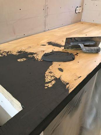 Herstellung eines Küchendaches mit Beton, Betonmörtel über Holz. Erhältlich in mehr als 60 Farben www.stucadoorstiens.nl - Salvabrani - Today Pin