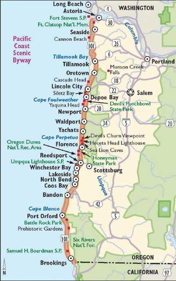 Oregon Scenic Drives: Pacific Coast Scenic Byway