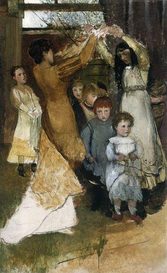 Lady Laura Teresa Alma-Tadema  (1852-1909) Oranges and Lemons