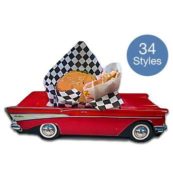 50s Classic Car Food Boxes - 33 Styles (Choose Below)
