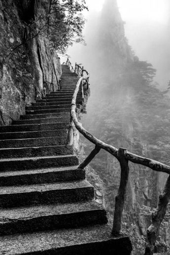 elegy for a dream 三 la photographie paysage landscape mood black and white escaliers stairs treppe #blackandwhitelandscapes