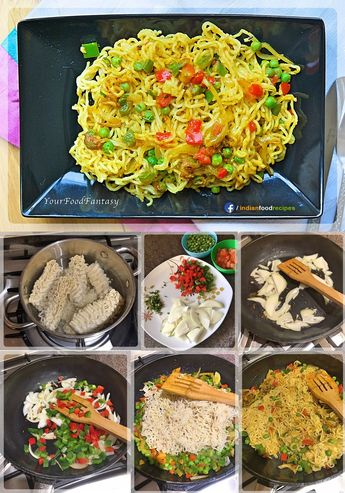 This recipe only takes 10 minutes as you can do preparation and cooking simultaneously. Vegetable Maggi Noodles recipe step by step pictures.