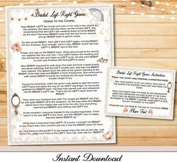 yes i do left right bridal shower game printable instant print left right