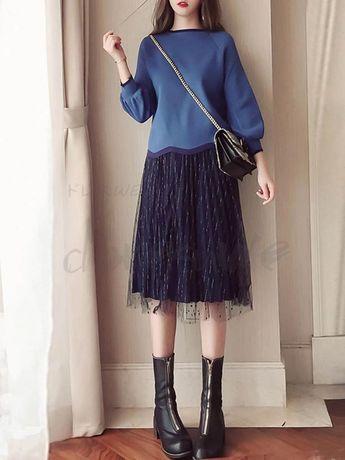 d6eef1fbcee00 ファッション通販 #Fashion Doresuweファッションセットアップ長袖ブラウスメッシュスカートおしゃれスカート大人可愛い