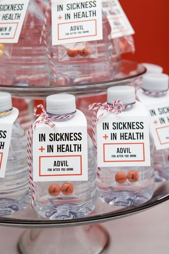 You HAVE To See These In Sickness + In Health Drinking Favors!