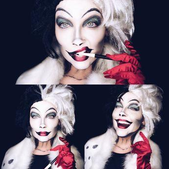 Cruella Deville Halloween Makeup