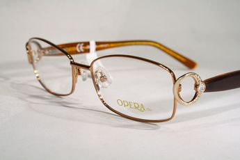 9f4e7c4d2d Women s OPERA CHIC Gold and Crystals   Rhinestone Brown   Honey Color Eyeglass  Frames   eBay