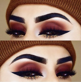 35 Red Eye Makeup Looks Beautiful for Women