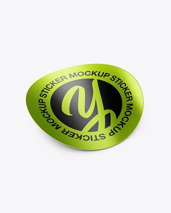 Round Sticker Mockup #advertisement #advertising #branding