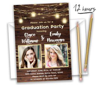 graduation announcement graduation invitation modern gra
