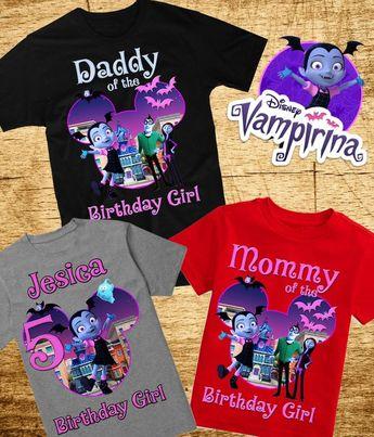 6115a1439 Vampirina Birthday Family Shirts Vampirina Family Shirt Vampirina Custom  Birthday Shirts Vampirina Party Shirts