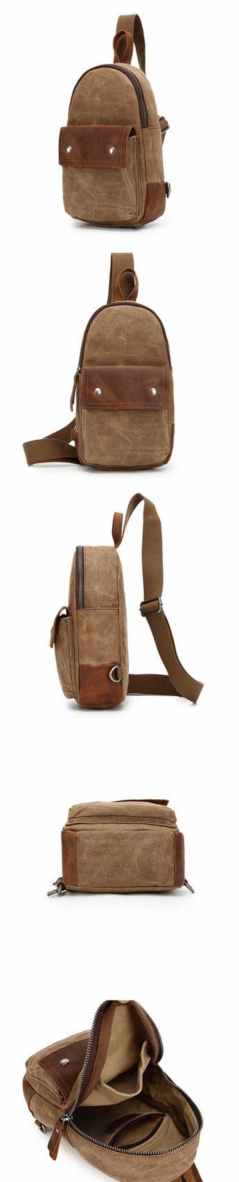 Unisex Canvas Chest Bags Vintage Chest Pack Crossbody Handmade Sling  Messenger Bags 2070 6efbfeb5263f7