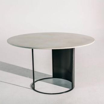 Zoe Table – Front Elevation Ivory