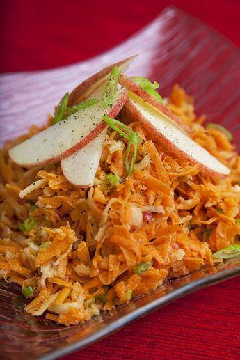 Salade de carottes et pommes vinaigrette à l'orange #recettesduqc #salade