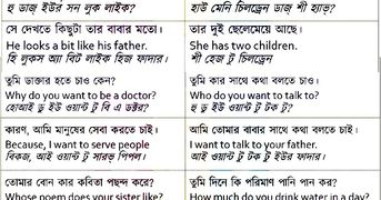 SPOKEN ENGLISH WITH BENGALI KNOW THE MEANING OF BENGALI AN