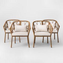 Fine Monaco Patio Chair With Cushion Joss Main Spiritservingveterans Wood Chair Design Ideas Spiritservingveteransorg
